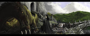 The Fall Of Nargothrond by woutart