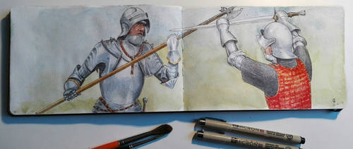 Sketchbook: Men at Arms by woutart