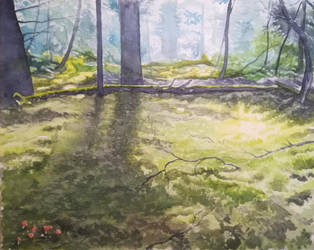 Woods, virtual plein air by woutart