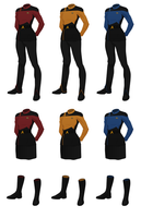 Class A Starfleet Uniform, (female) by JJohnson1701