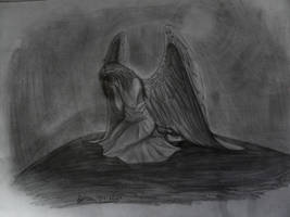 Crying angel-Ange pleureur by AuroreMaudite09