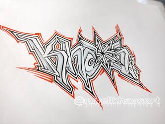 Khaosart logo.  .  . by RuvellKhaosArt