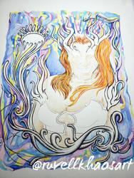 The Goddess .  .  . by RuvellKhaosArt