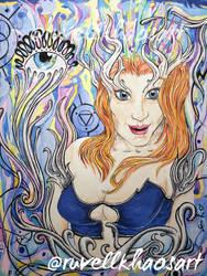 Goddess by RuvellKhaosArt