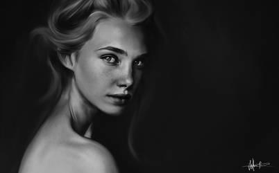 Quick portrait by Sofieinuk