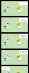 Quentin having a talk with Spiral Swirl part 1 by Imzebrony