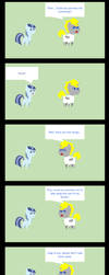 Quentin having a talk with Spiral Swirl part 3 by Imzebrony