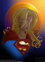 Supergirl coloured...Again by ReverendTrigster
