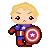 Avengers - Captain America - Avatar by Mibu-no-ookami