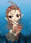 Chibi Mermaid Series - Lionfish by Mibu-no-ookami