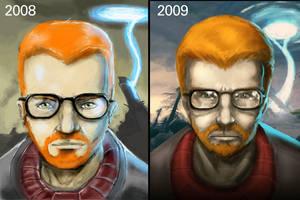 Gordon Freeman progress by DVan7