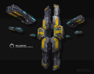 Starfall Tactics Millenium mothership concept by DVan7