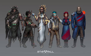 Starfall Tactics faction portraits by DVan7