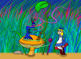 Alice and the Caterpillar by Christopia1984