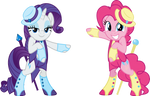 Pinkie And Rarity By Osipush by Christopia1984