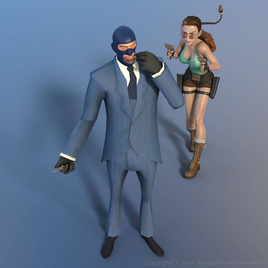 Lara vs Spy by tombraider4ever