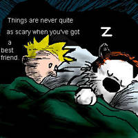 Calvin and Hobbes by NoArtistHere
