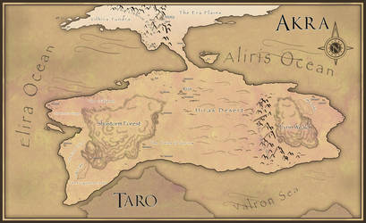 Map of Akra by Kaivris