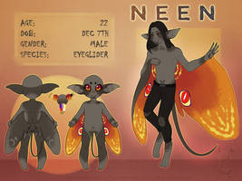 Eyeglider: Neen [OC Reference] by popolis