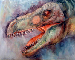 Tyrannosaurus Portrait by FutureAesthetic