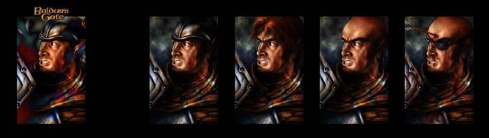 Baldur's Gate Khalid portrait modifications by KiraraDesign