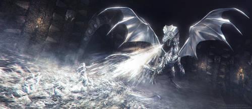 Silver dragon's wrath by KiraraDesign