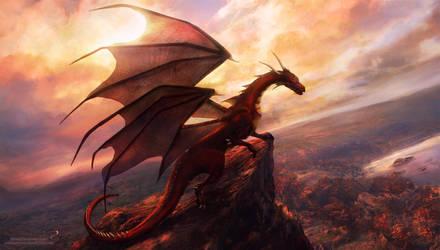 Red dragon by KiraraDesign