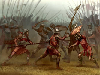 An Empire of Nicaea vs Latin Empire battle by Simulyaton