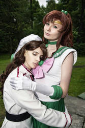 Sailor Jupiter and Nephrite by LetoAnastasia