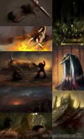 Pathologic sketches by VentralHound