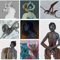 portraits 7 by VentralHound