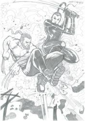 Wolverine Vs Amiko Kobayashi by mycomica
