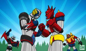 Grendizer vs. Getter Robo G by DanielMead