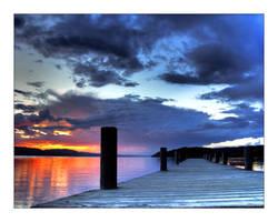 pier in sunset1 by NorwegianAnette