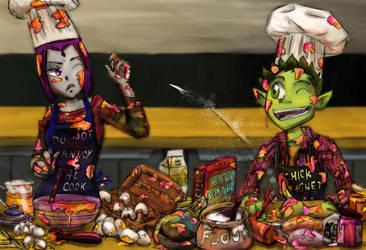 Baking Cake - Fail  BBxRae by FelynxTiger