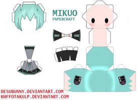 Mikuo papercraft by KHFFotakuLP