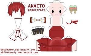 Akaito papercraft by KHFFotakuLP