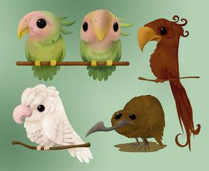 Birds by Rhubix