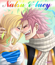 Natsu and Lucy by ACwhitewolf168