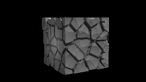 Minecraft Cobblestone - 3D render by Jonilo5