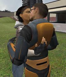 GMod : Alyx kissing Gordon by Axel-Letterman