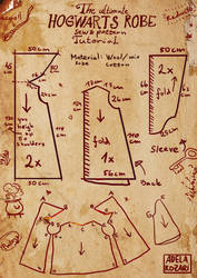Hogwarts Harry Potter robe tutorial and pattern by Dragowlin