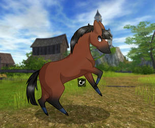 Star Stable Online | Chibi | Tempestuous - Request by cross-creature