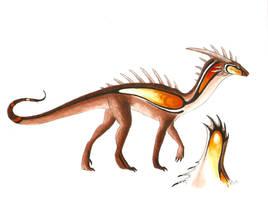 Fire dragon design by Rachelance