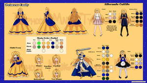Complete Princess Emily Gold Reference Sheet by Typhoon-Manga