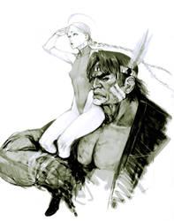 Cammy and Hawk by masateru