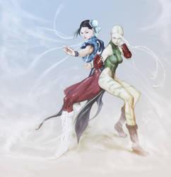 Cammy White  Chun-Li 120128 by masateru