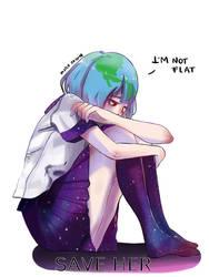 Earth Chan save her by miru by im-Miru