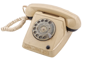 Old Telephone by mistyt-stock