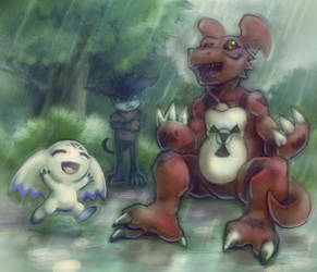 Tamers 030. Under the Rain by ovibos